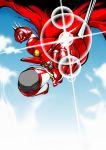 cape flying getter-1 getter_robo lens_flare mecha no_humans