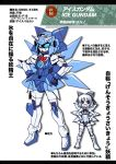 ? cirno dress g_gundam gundam hair_bow m_ganzy mecha mechanization parody short_hair touhou translated translation_request wings ã¢â€˜â¨ ⑨