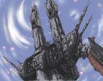 antennae cannon choujikuu_yousai_macross cloud explosion fortress macross mecha naonao77 oekaki oldschool science_fiction sdf-1 space_craft storm_attacker u.n._spacy
