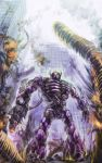 building city destruction explosion mecha nidoro no_humans robot ruins shockwave shockwave_(transformers) smoke solo transformers weapon