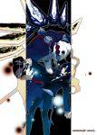 blue_eyes blue_hair chain chains hinaki_yuzu male persona persona_3 school_uniform thanatos