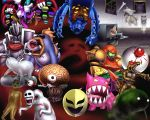 andross andross_(brain) annotated arm_cannon armor bird black_knight bone brain company_connection crossover dead_hand donkey_kong_country electricity eyeball fire_emblem fire_emblem:_akatsuki_no_megami fire_emblem:_souen_no_kiseki gengar ghost giygas glowing glowing_eyes gonzarez heart highres kirby_(series) kremling marowak marx marx_soul metroid monster mother_(game) mother_2 mother_3 nightmare_(metroid) nintendo paper_mario phanto pikmin pikmin_2 pokemon pokemon_(creature) redead rock_kroc rockroc rogues_gallery rotom sa-x smokey_progg smoky_progg spoilers star_fox starfox super_mario_bros. television the_legend_of_zelda tubba_blubba ultimate_chimera varia_suit waterwraith weapon when_you_see_it you_gonna_get_raped zero_(kirby)