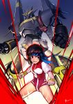 80s bob_cut brown_eyes brown_hair gunbuster headband highres leotard mecha namiko_(zxbvincent) oldschool short_hair super_robot takaya_noriko top_wo_nerae! wristband