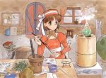:o alchemy atelier_(series) atelier_elie_alchemist_of_salburg_2 bag bangs basket black_legwear book bookmark bow bowl box bridal_gauntlets brown_eyes brown_hair bust chair curtains desk door dress earrings elfir_traum elie flask flat_chest globe gust hat indoors jewelry leaf looking_away official_art ouse_kohime pantyhose paper parted_bangs plant pot potted_plant retort ribbon short_hair side_slit smoke solo spoon standing stool surprised trashcan turtleneck window yamagata_isaemon