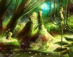 animal bulbasaur chikorita forest green pokemon purple_kecleon snivy treecko turtwig