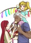 age_difference blonde_hair dark_skin flandre_scarlet food hong_meiling ice_cream king_of_fighters krizalid long_hair m.u.g.e.n mugen_(game) red_hair redhead senmi_aki short_hair size_difference snk touhou wings