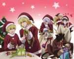 cheshire_cat christmas eliot_nightray emily_(pandora_hearts) gilbert_nightray hat jack_vessalius male overfiltered oz_bezarius oz_vessalius pandora_hearts scan vincent_nightray xerxes_break