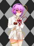 bottomless chocolate cord dress_shirt eyes hairband komeiji_satori n-mix oversized_clothes pink_hair red_eyes shirt short_hair solo touhou valentine white_shirt wire