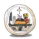 food fruit kotatsu lowres metroid mikan_box morph_ball nintendo orange pajamas ridley samtx samus_aran table television