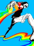 happy male monkey_d_luffy one_piece rainbow spot_color