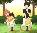 child gake_no_ue_no_ponyo jas mother_and_son no_socks ponyo red_hair redhead risa_(ponyo) sosuke studio_ghibli