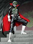 boots cape cyborg dark_persona gloves helmet kamen_rider kamen_rider_1 noq shocker skullman solo stairs the_skullman