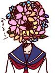 bust flower koto_(kotocotton) overgrown school_uniform serafuku solo sunflower to_aru_majutsu_no_index translated uiharu_kazari what you're_doing_it_wrong you're_doing_it_wrong