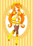 1girl boots kagami_chihiro long_hair orange_eyes orange_hair original precure solo thigh-highs two_side_up