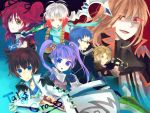 4boys asbel_lhant bad_id blonde_hair blue_hair brown_hair cheria_barnes glasses heterochromia hubert_ozwell malik_caesars multicolored_hair multiple_boys multiple_girls pascal purple_hair red_eyes red_hair redhead richard_(tales_of_graces) sophie_(tales_of_graces) tales_of_(series) tales_of_graces title_drop twintails two-tone_hair two_side_up white_hair yohachi