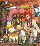 autumn deerling dragon_quest dragon_quest_ix dwebble emolga foongus leafy_larrikin male odd_one_out pokemon pokemon_(game) pokemon_black_and_white pokemon_bw sawsbuck sewaddle soara tree venipede volcarona