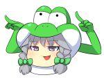 arms crossover highres hospital_king izayoi_sakuya nintendo open_mouth pointing super_mario_bros. touhou yoshi yukkuri_shiteitte_ne