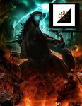 concept_art genzoman godzilla godzilla_(series) kaijuu legendary_pictures lightning official_art ruins spikes