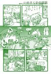 6+girls :o animal_ears bat_wings comic dog_ears dog_tail door ghast head_wings hong_meiling inu_sakuya izayoi_sakuya kasaneko koakuma lever minecraft monochrome multiple_girls musical_note o_o remilia_scarlet running saigyouji_yuyuko scarlet_devil_mansion singing tail tears touhou translated translation_request wings