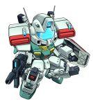 chibi gm_iii gun gundam gundam_zz mecha no_humans noah_noah shield simple_background solo weapon