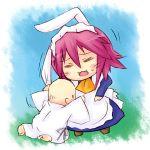 baby bunny_ears chibi closed_eyes eyes_closed maid piku pink_hair shakugan_no_shana short_hair wilhelmina_carmel