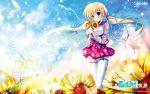 blonde_hair blue_eyes kagamatsuri_mana long_hair manatsu_no_yoru_no_yuki_monogatari mikeou seifuku thigh-highs thighhighs twintails