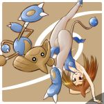 capoeira genderswap handstand hitmontop kick kicking legs leotard lowres moemon pantyhose personification pointy_hair pokemon pokemon_(game) pokemon_gsc ranphafranboise spinning_bird_kick tail tenjou_ryuka