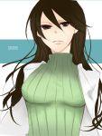 black_hair durarara!! labcoat long_hair solo turtleneck yagiri_namie yasu_(artist)