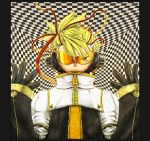 blonde_hair glasses gloves highres jacket kagamine_len ledjoker07 male solo vocaloid yellow_eyes
