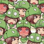 angry blush brown_hair copyright_request expressions full-face_blush hat lowres personification sad short_hair tears tileable yuksi