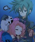 blush blush_stickers coat doll green_eyes green_hair hat long_hair noraring pink_hair sleeping sweat sync tales_of_(series) tales_of_the_abyss
