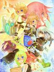 axel blindfold blonde_hair blue_eyes brown_hair duskaria kairi keyblade kingdom_hearts kingdom_hearts_358/2_days namine pink_hair purple_hair red_hair redhead riku roxas silver_hair sketchbook sora_(kingdom_hearts) wristband xion_(kingdom_hearts)