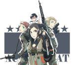 ace_combat_5 alvin_h_davenport blaze gun hans_grimm kei_nagase military military_uniform mimura_tokusa rifle uniform weapon