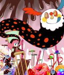 candy candy_cane chair charlotte_(madoka_magica) chocolate cookie doughnut food heart mahou_shoujo_madoka_magica pyotr_(madoka_magica) tapa_(tapa) tongue witch's_labyrinth witch's_labyrinth