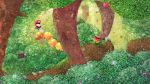 apple character_request egg flower food forest fruit goomba highres mario nature nintendo orioto scenery super_mario_bros. thwomp tree wiggler yoshi_egg