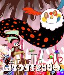 candy candy_cane chair charlotte_(madoka_magica) chocolate cookie doughnut food heart madoka_runes mahou_shoujo_madoka_magica pyotr_(madoka_magica) tapa_(tapa) tongue witch's_labyrinth witch's_labyrinth