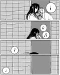 comic couple head_rest himura_kenshin hug japanese_clothes kamiya_kaoru kimu_(risatoko) long_hair monochrome musical_note rurouni_kenshin scar