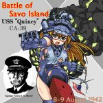 american_flag cruiser damaged dated flag glasses konoekihei military navy new_orleans_class_heavy_cruiser open_mouth original personification pov_aiming samuel_nobre_moore ship smoke torn_clothes uss_quincy uss_quincy_(ca-39) world_war_ii wwii
