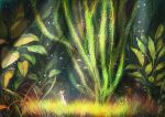 bubble dress fighs fish grass hat original plant plants scenery seaweed solo straw_hat sunbeam sundress sunlight toto_mame underwater water white_dress