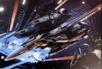 absurdres battle choujikuu_yousai_macross cockpit earth epic explosion gunpod hangar helmet highres macross macross:_do_you_remember_love? mecha official_art oldschool pilot_suit realistic scan science_fiction sdf-1 space spacesuit tenjin_hidetaka u.n._spacy vf-1 vf-1_super