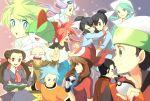 5girls 6+boys alternate_costume asuna_(pokemon) bandana bandanna book everyone fingerless_gloves fuu_(pokemon) gloves grin gym_leader haruka_(pokemon) holding holding_book holding_poke_ball mikuri_(pokemon) mitsuru_(pokemon) multiple_boys multiple_girls nagi_(pokemon) open_book poke_ball pokemon pokemon_(creature) pokemon_(game) pokemon_rse pokemon_ruby_and_sapphire ralts ran_(pokemon) sekka_koyori senri_(pokemon) smile tessen_(pokemon) touki_(pokemon) tsutsuji_(pokemon) yuuki_(pokemon) yuuki_(pokemon)_(remake) yuuki_(pokemon_emerald)