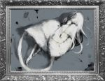 crossbreed_priscilla dark_souls kmitty long_hair picture_frame priscilla_the_crossbreed sleeping tail white_hair