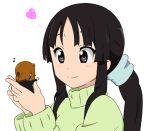 32r akiyama_mio alternate_hairstyle bad_id black_eyes black_hair chibi k-on! long_hair minigirl multiple_girls ponytail sweater tainaka_ritsu