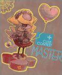 balloon chibi costume dress giratina grey_skin headband kantarou_(8kan) pokemon pokemon_(game) pokemon_dppt red_eyes ribbon
