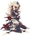 black_sclera blonde_hair costume dress giratina grey_skin kantarou_(8kan) maid personification pokemon pokemon_(game) pokemon_dppt red_eyes ribbon
