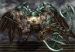 belfry_gargoyle bell_gargoyle dark_souls fire helmet huge_weapon tail weapon