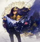 armor full_armor kyouka_hatori long_hair male purple_hair saint_seiya scorpio_milo solo star zodiac
