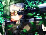 game_cg glasses gun sekisaba weapon white_hair
