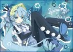 1girl aqua_eyes aqua_hair bondson bow dress hair_bow hatsune_miku long_hair pantyhose solo very_long_hair vocaloid
