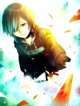cloak gloves highres kingdom_hearts kingdom_hearts_358/2_days short_hair slee solo spoilers xion_(kingdom_hearts)